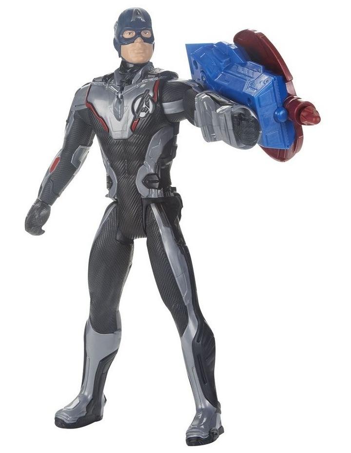 "Avengers Endgame - Captain America 12"" Action Figure - Titan Hero Series Power FX - Sounds & Phrases image 4"