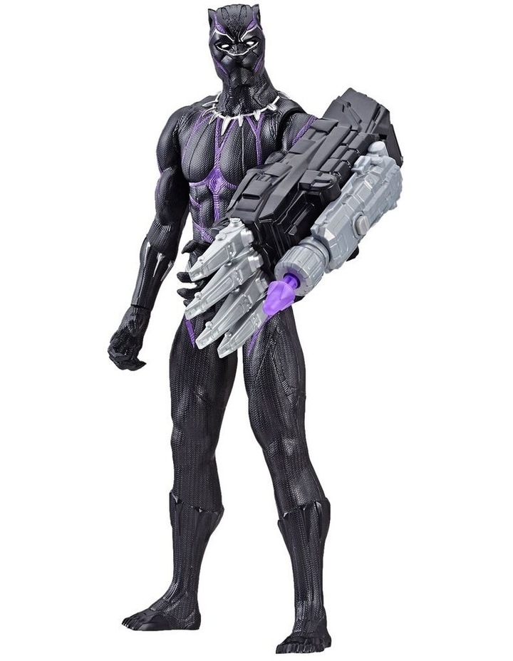 "Avengers Endgame - Black Panther 12"" Action Figure - Titan Hero Series Power FX - Sounds & Phrases image 1"