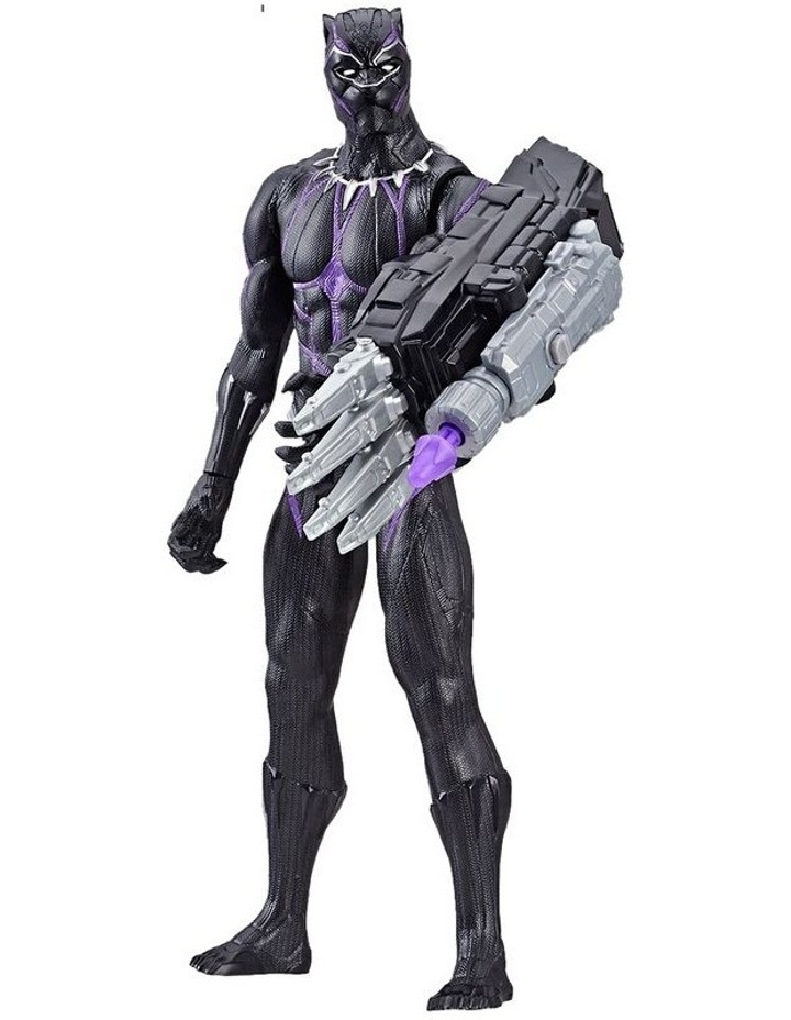 "Avengers Endgame - Black Panther 12"" Action Figure - Titan Hero Series Power FX - Sounds & Phrases image 2"
