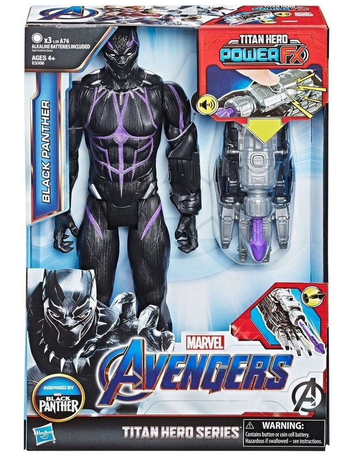 "Avengers Endgame - Black Panther 12"" Action Figure - Titan Hero Series Power FX - Sounds & Phrases image 3"