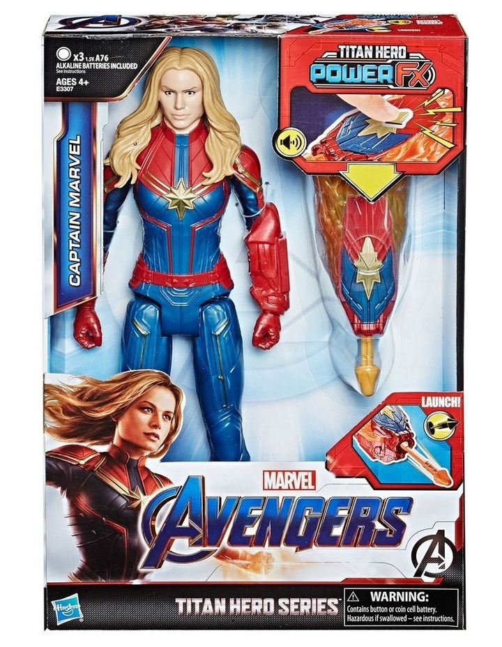 "Avengers Endgame - Captain Marvel 12"" Action Figure - Titan Hero Series Power FX - Sounds & Phrases image 3"