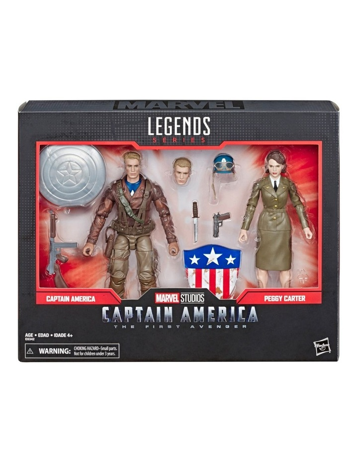 "Captain AmericaThe First Avenger Legend Series - Captain America & Peggy Carter 6"" Action Figures 2 Pack image 1"