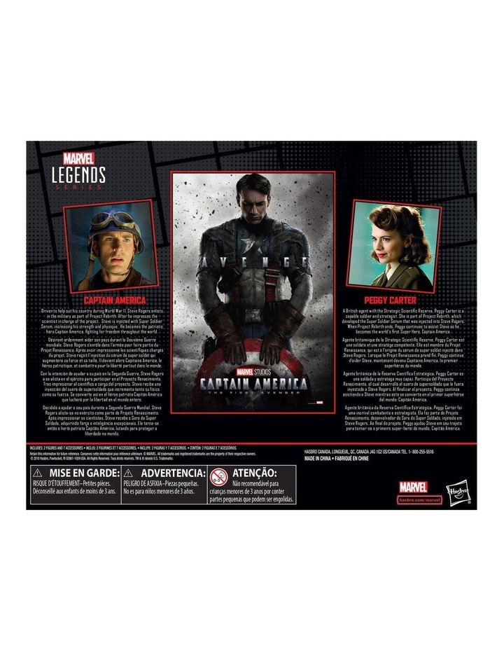 "Captain AmericaThe First Avenger Legend Series - Captain America & Peggy Carter 6"" Action Figures 2 Pack image 2"