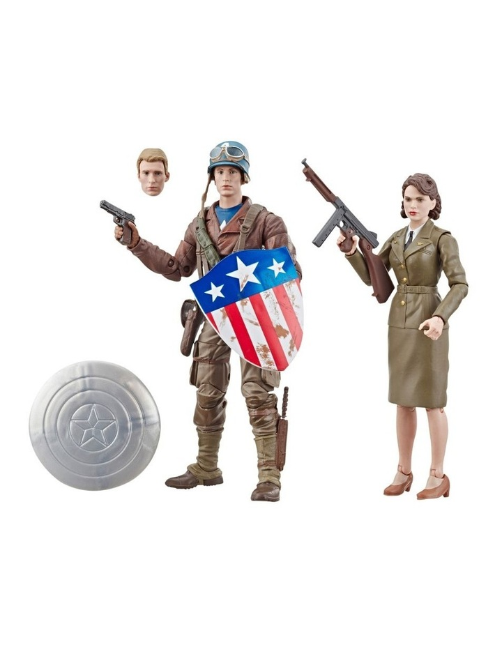 "Captain AmericaThe First Avenger Legend Series - Captain America & Peggy Carter 6"" Action Figures 2 Pack image 7"