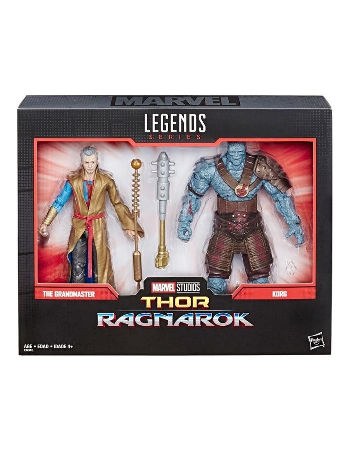 "Thor Ragnarok Legends Series - Grandmaster & Korg 6"" Action Figures 2 Pack image 2"