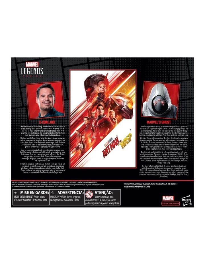 "Ant Man and the Wasp Legend Series - X Con Luis & Marvel's Ghost 6"" Action Figures 2 Pack image 3"
