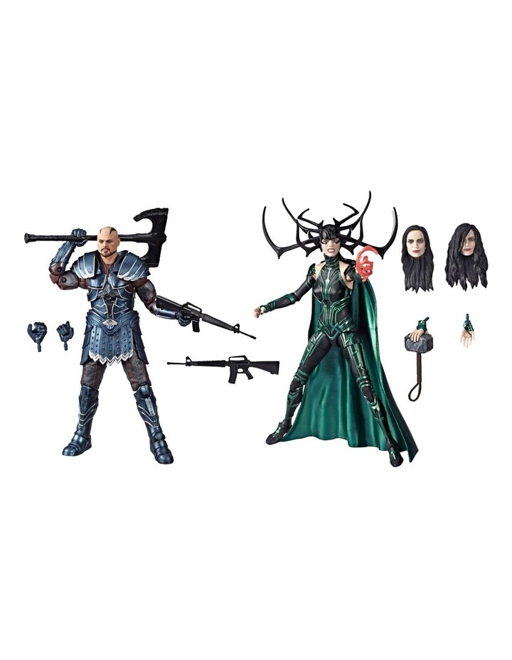 """Legend Series Thor Ragnarok - Skurge & Marvel's Hela 6"""" Action Figures 2 Pack image 1"""