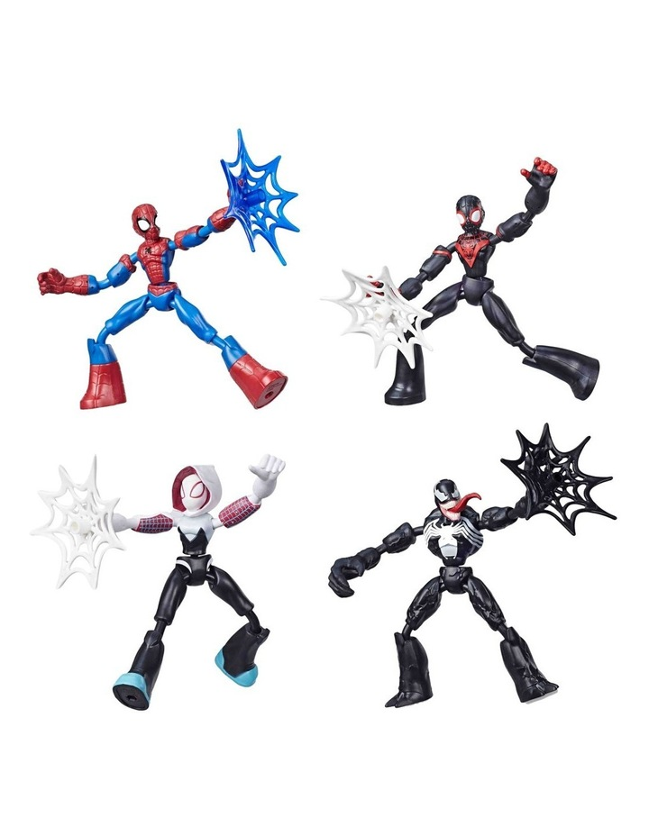 """Bend and Flex 6"""" Action Figures - Assortment - Miles Morales - Venom - Ghost Spider - Spider Man - Each Sold Separately image 1"""