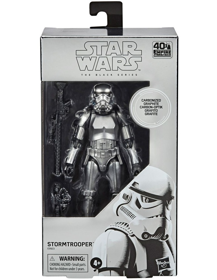 Star Wars The Black Series Carbonized Collection Stormtrooper Toy Figure image 1