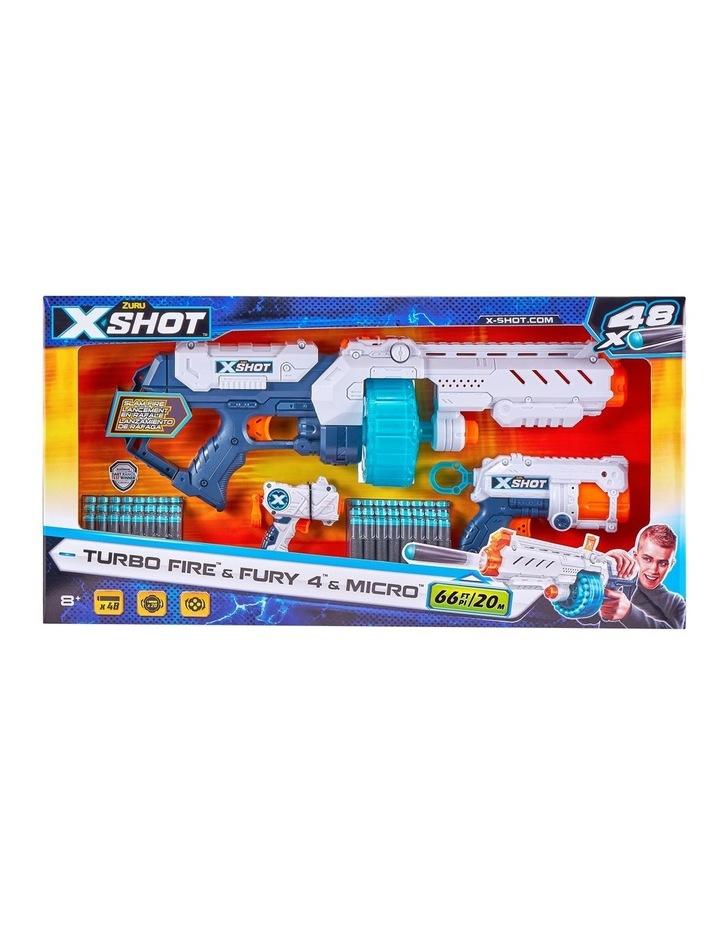 X-Shot Turbo Fire & Fury 4 & Micro Combo image 1