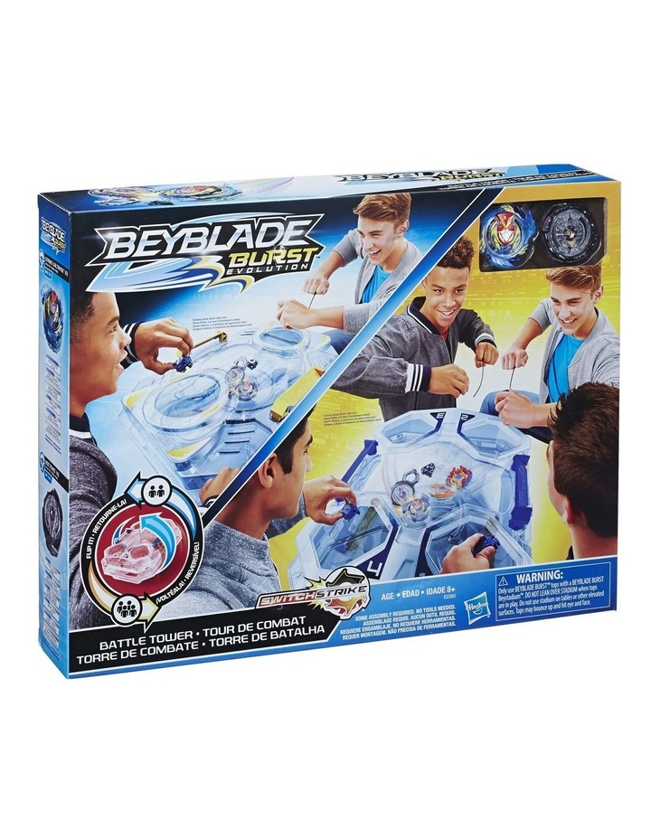 BEYBLADE BURST EVOLUTION - SwitchStrike Battle Tower Play Set - Inc 2 Level Beystadium, Battling Tops & Launchers image 1
