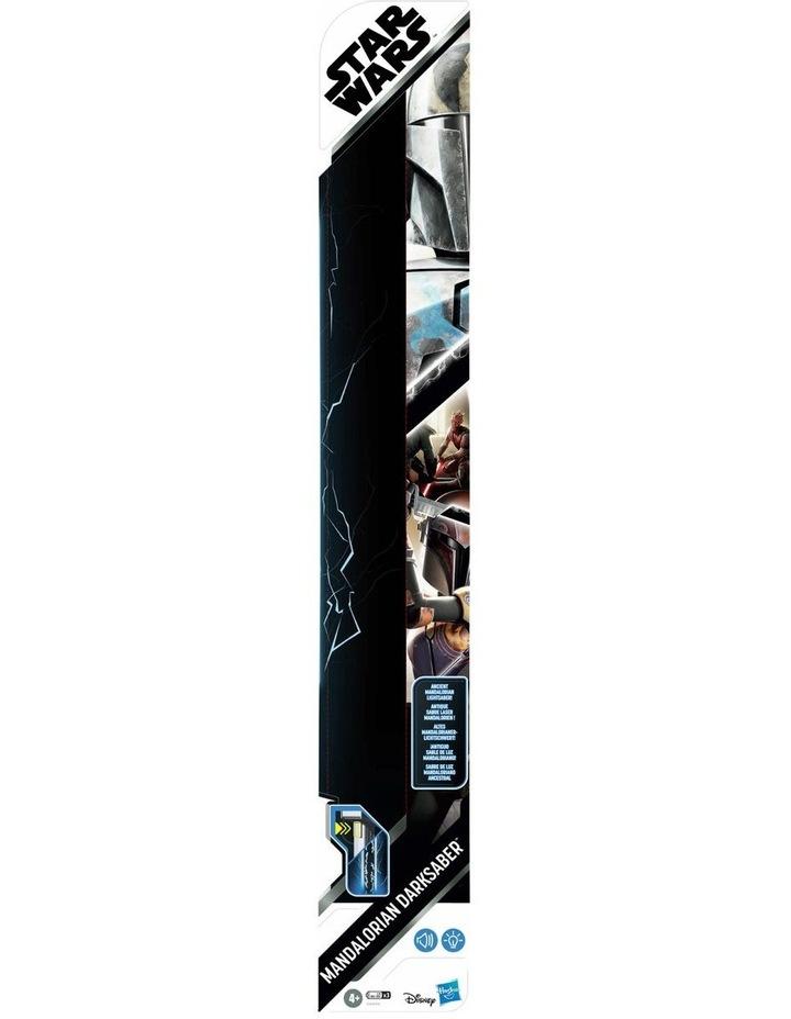 Mandalorian Darksaber Lightsaber Toy with Electronic Lights & Sounds image 2