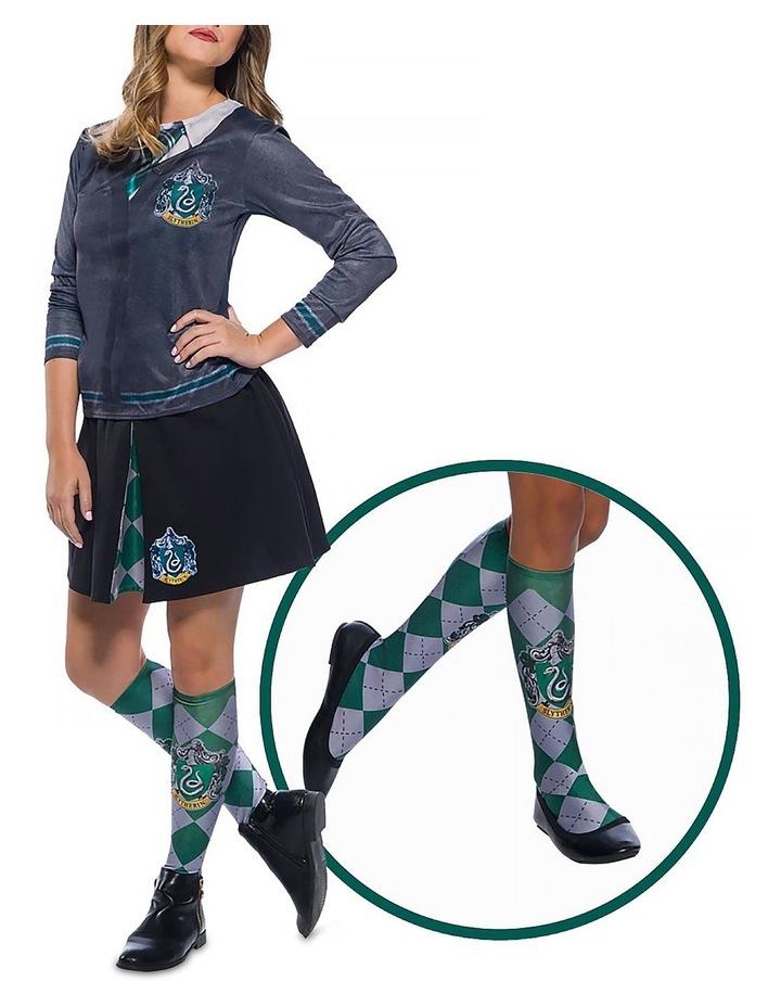 Slytherin Socks - One Size (Fits Shoe Size 6-11) image 2