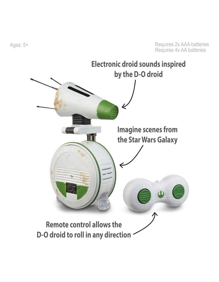 The Rise of Skywalker - Remote Control D-O Rolling Figure - Electronic Droid with Sounds image 2