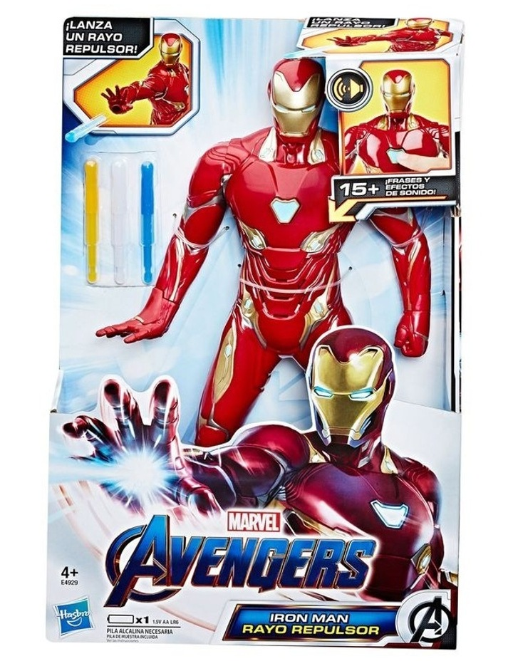"Avengers Endgame Iron Man 13"" Repulsor Blast Action Figure image 1"