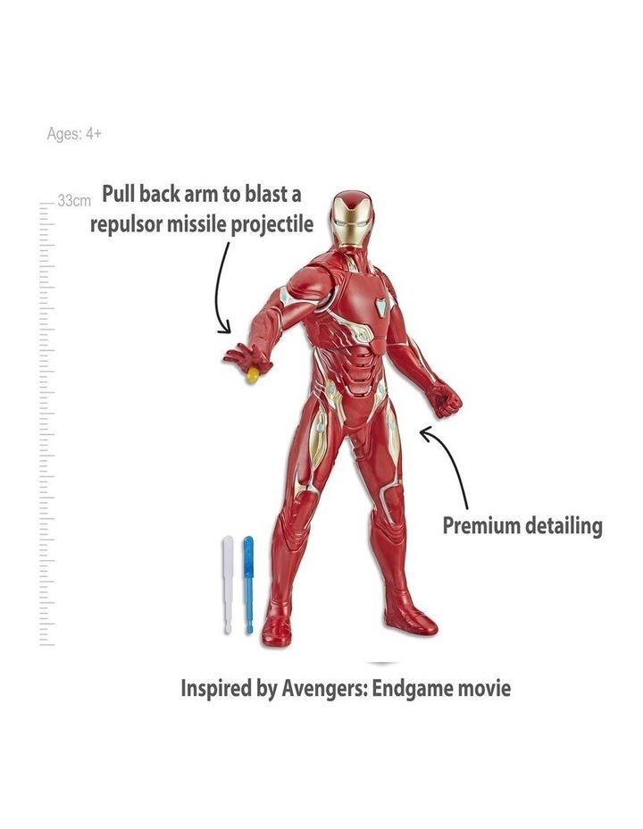 "Avengers Endgame Iron Man 13"" Repulsor Blast Action Figure image 3"