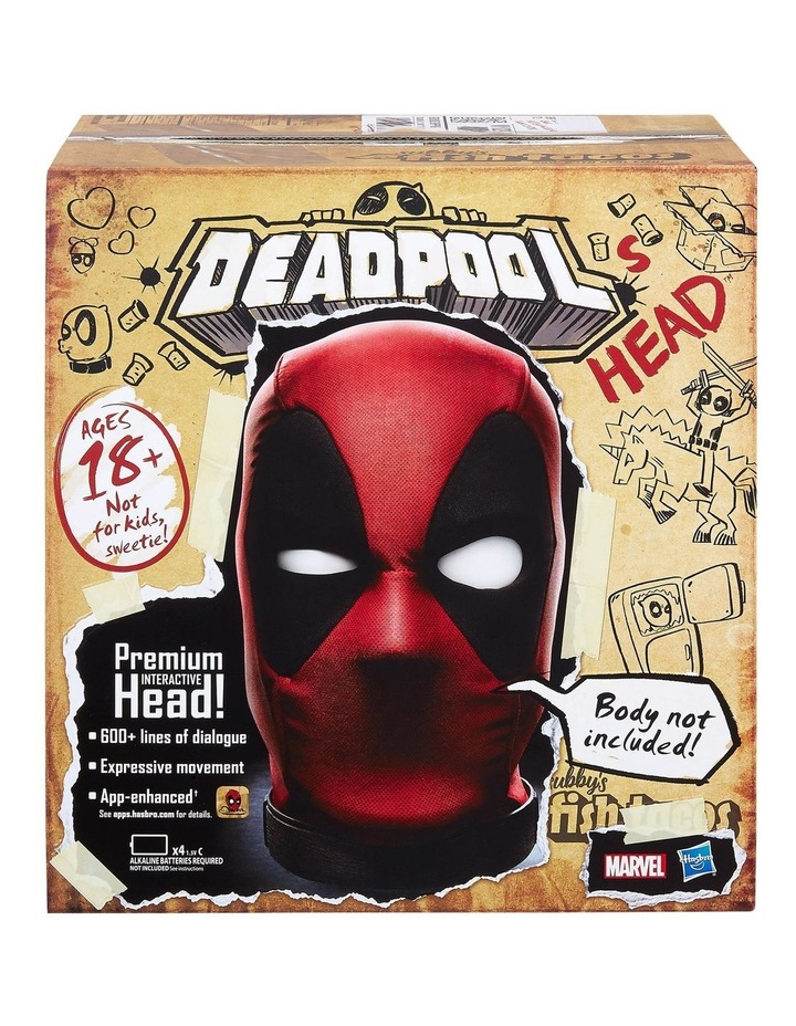 Legends Deadpools Head - Moving, Talking Electronic, App Enhanced Premium Interactive Collectible image 2