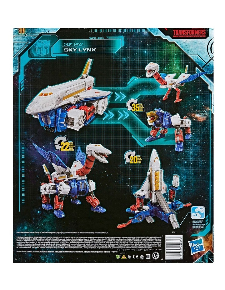 """TRANSFORMERS Generations - War for Cybertron Earthrise - Sky Lynz Leader Class 11"""" Action Figure image 3"""