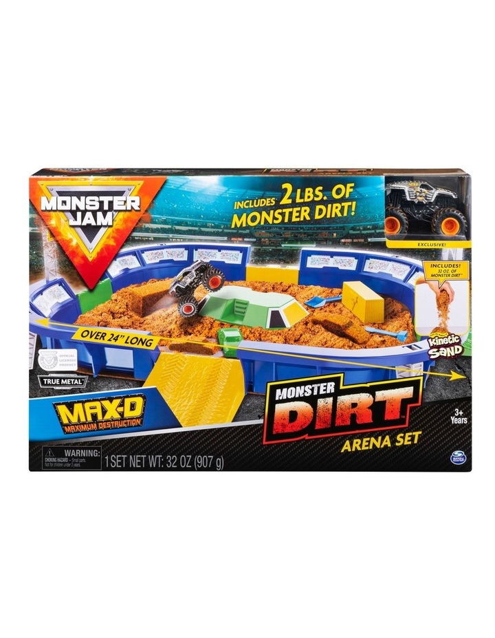 Monster Jam Kinetic Dirt Arena Playset image 1