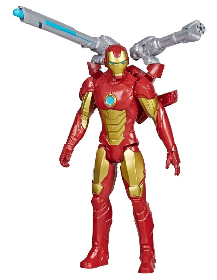 "Marvel Avengers Titan Hero Series Blast Gear Iron Man 12"" Action Figure - With Launcher, 2 Accessories & Projectile image 1"