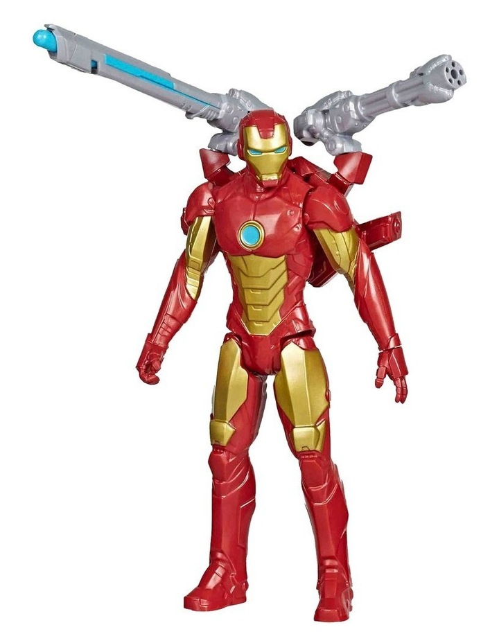 "Marvel Avengers Titan Hero Series Blast Gear Iron Man 12"" Action Figure - With Launcher, 2 Accessories & Projectile image 2"
