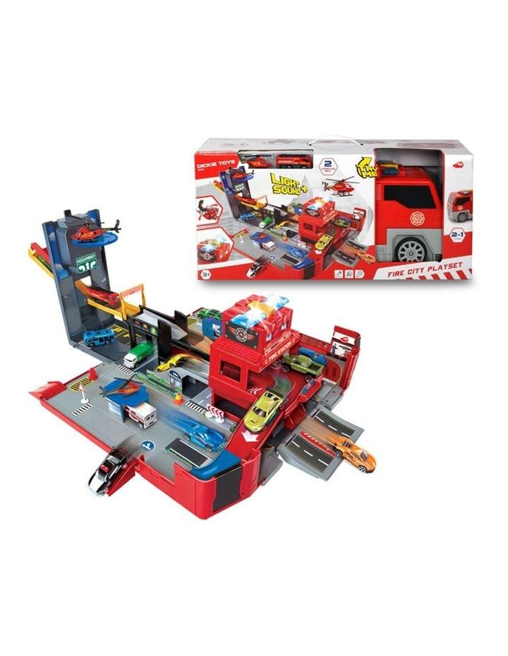 Folding Fire Truck Playset image 1