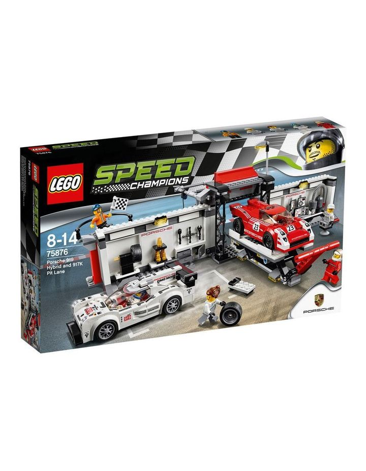 Speed Champions Porsche 919 Hybrid and 917K Pit Lane 75876 image 1