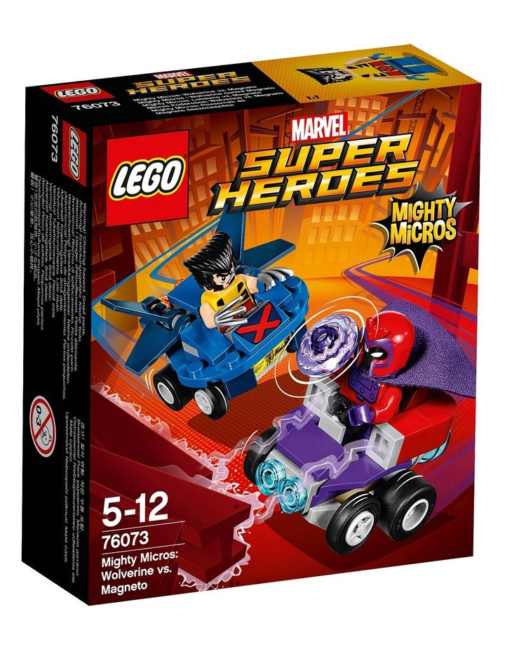Super Heroes Mighty Micros: Wolverine vs. Magneto 76073 image 1