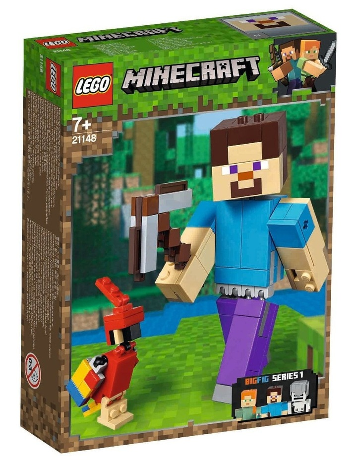 Minecraft Steve BigFig with Parrot 21148 image 1