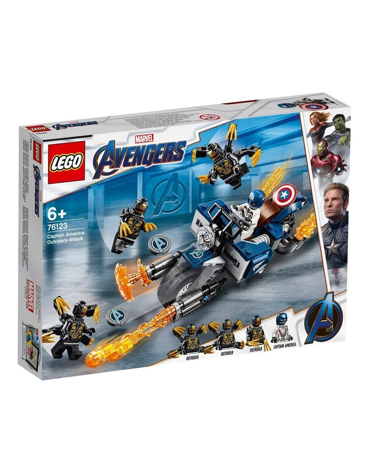 Super Heroes Captain America's Outrider's Attack 76123 image 1