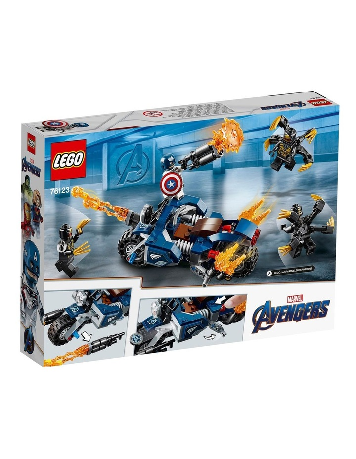 Super Heroes Captain America's Outrider's Attack 76123 image 2