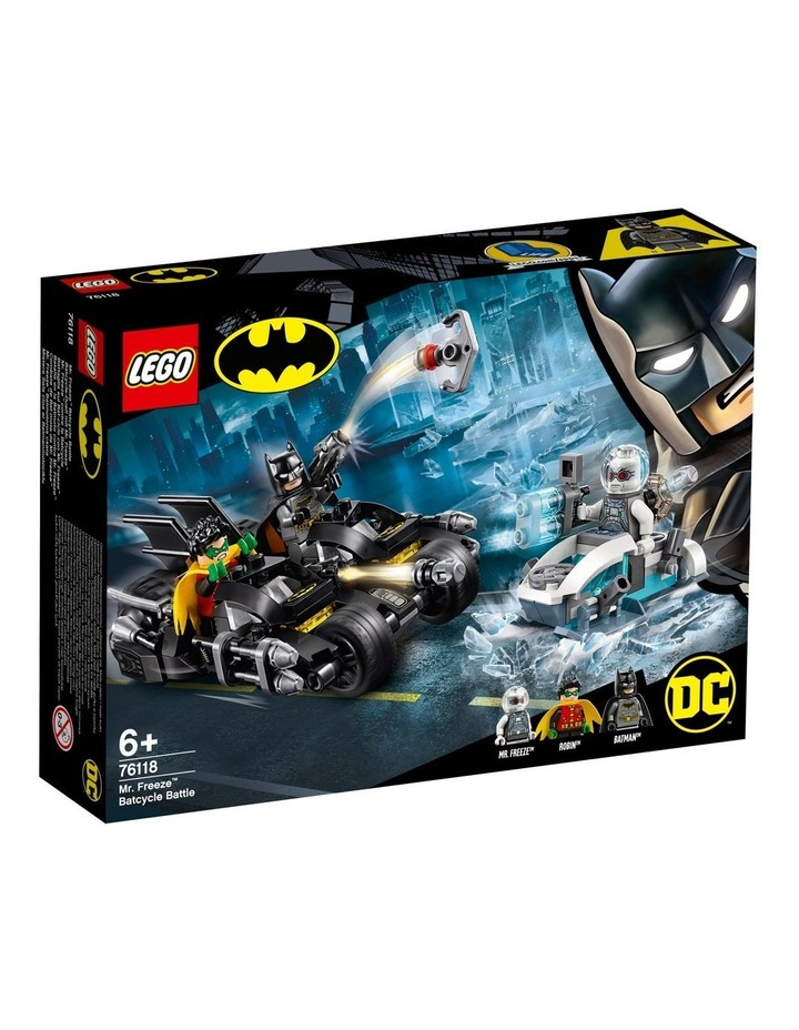 DC Batman Mr. Freeze Batcycle Battle 76118 image 1