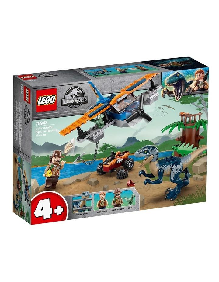 Jurassic World Velociraptor: Biplane Rescue Mission 75942 image 1