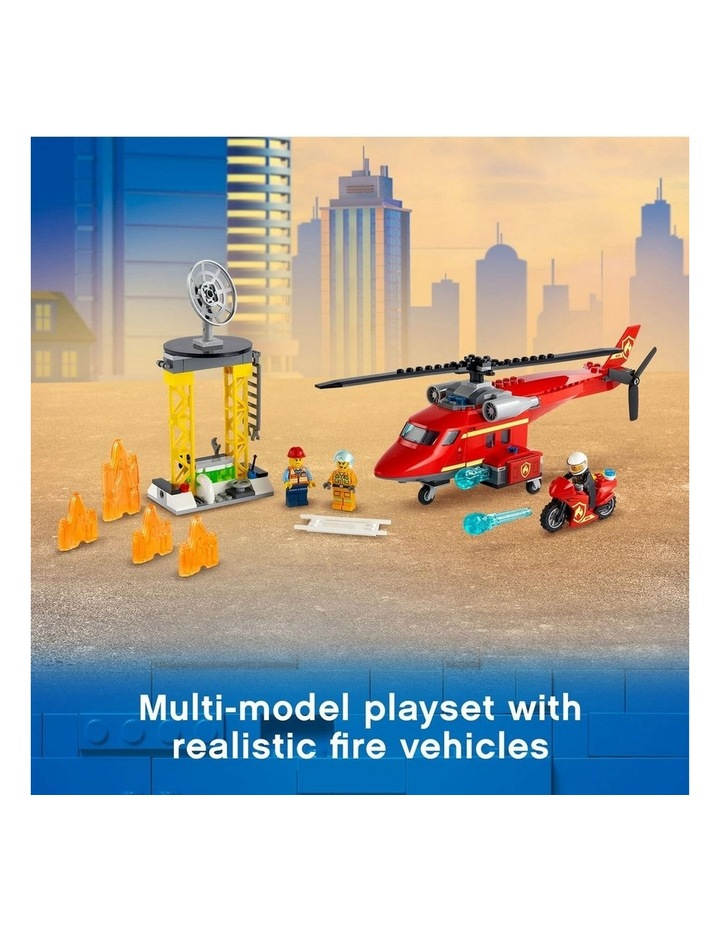 City Fire Rescue Helicopter 60281 image 4