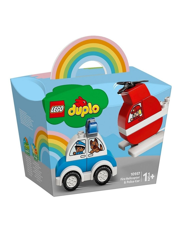 Duplo My Frist Fire Helicopter & Police Car 10957 image 1
