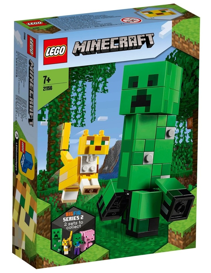 Minecraft Creeper BigFig and Ocelot Characters 21156 image 1