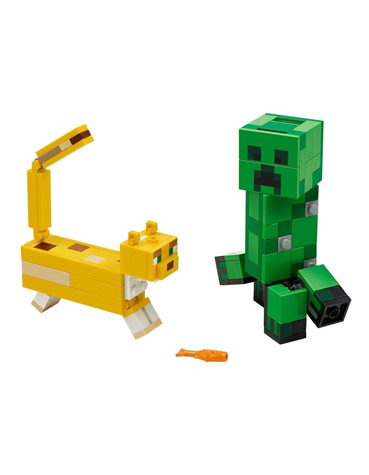 Minecraft Creeper BigFig and Ocelot Characters 21156 image 2