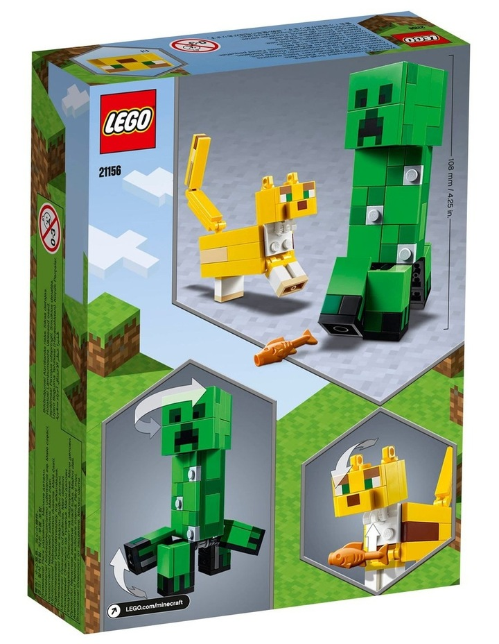 Minecraft Creeper BigFig and Ocelot Characters 21156 image 7