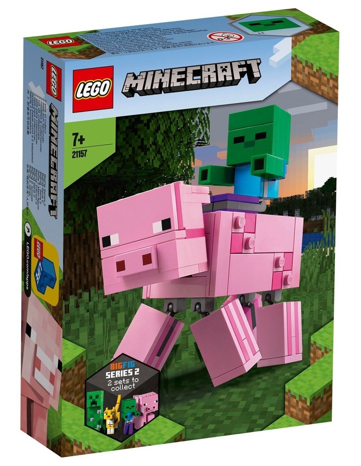 Minecraft Pig BigFig and Baby Zombie Character 21157 image 1