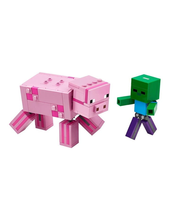Minecraft Pig BigFig and Baby Zombie Character 21157 image 2