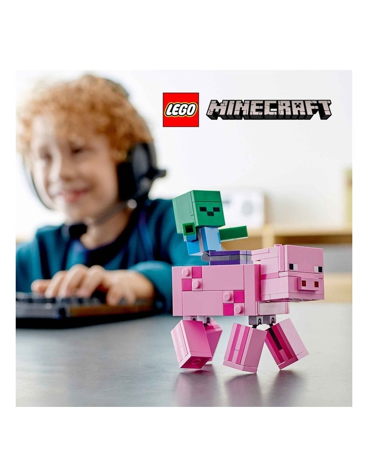 Minecraft Pig BigFig and Baby Zombie Character 21157 image 3