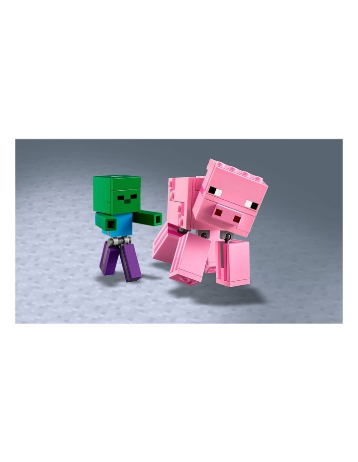 Minecraft Pig BigFig and Baby Zombie Character 21157 image 5