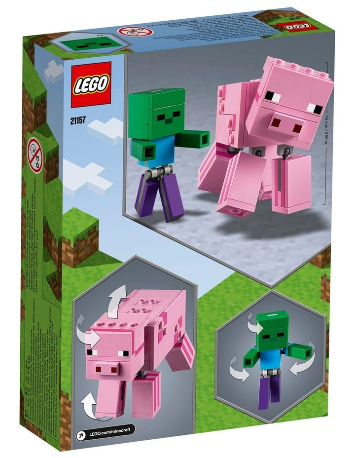 Minecraft Pig BigFig and Baby Zombie Character 21157 image 7