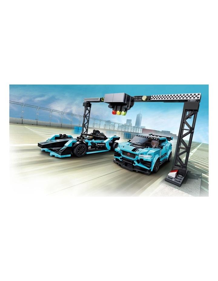 Speed Champions Formula E Panasonic Jaguar Racing Gen2 car & Jaguar I-PACE eTROPHY 76898 image 4