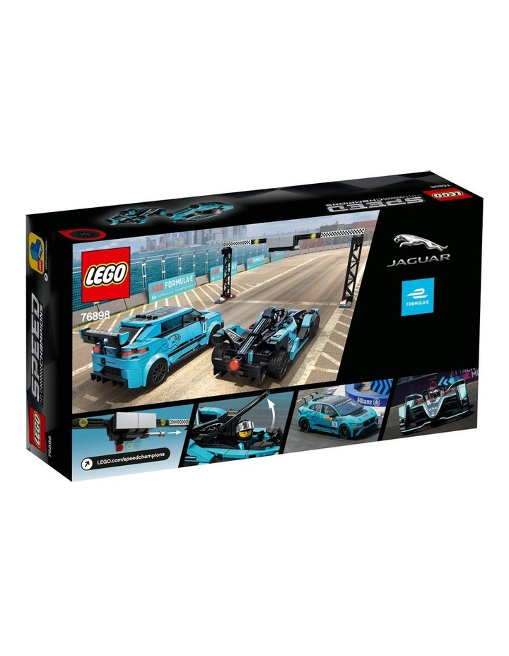 Speed Champions Formula E Panasonic Jaguar Racing Gen2 car & Jaguar I-PACE eTROPHY 76898 image 7