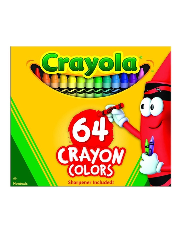 64ct Crayons w/Built in Sharpener image 1