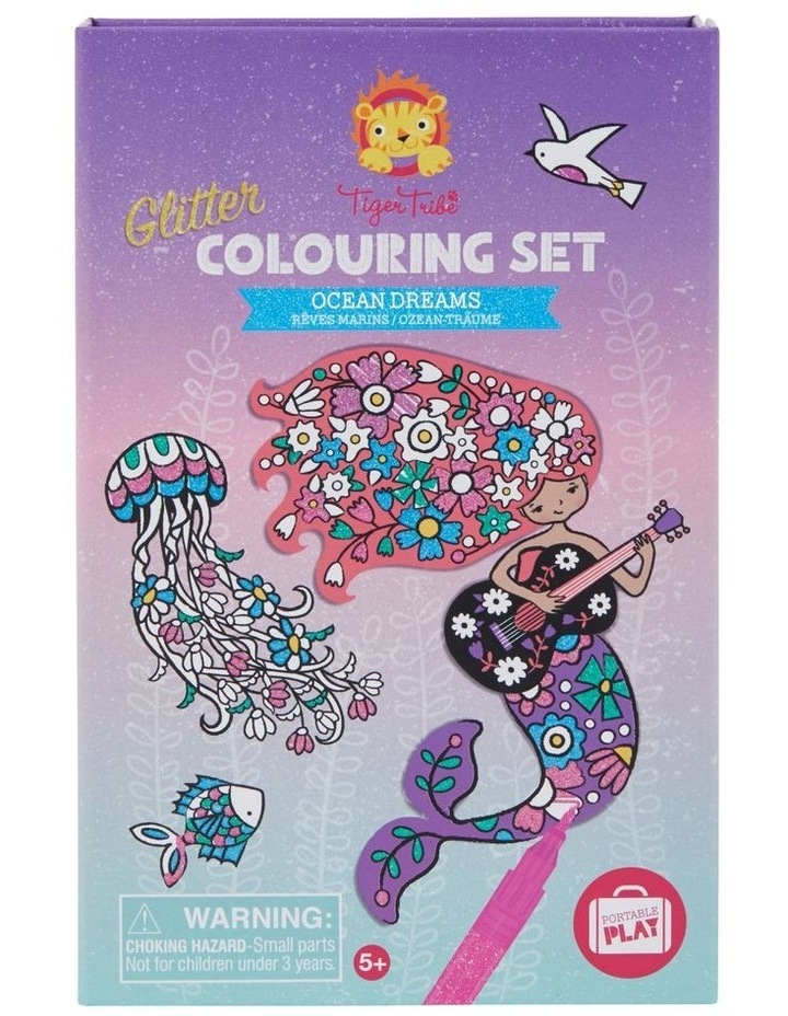 Glitter Colouring Set - Ocean Dreams image 1