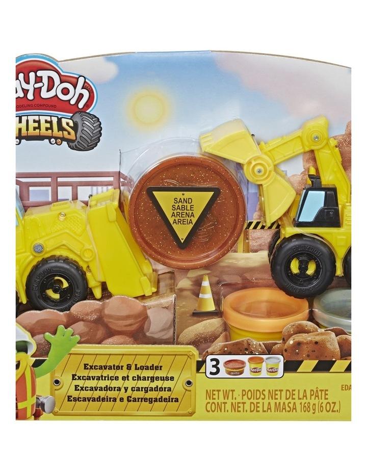 Excavator & Loader Construction Trucks Play Set image 1