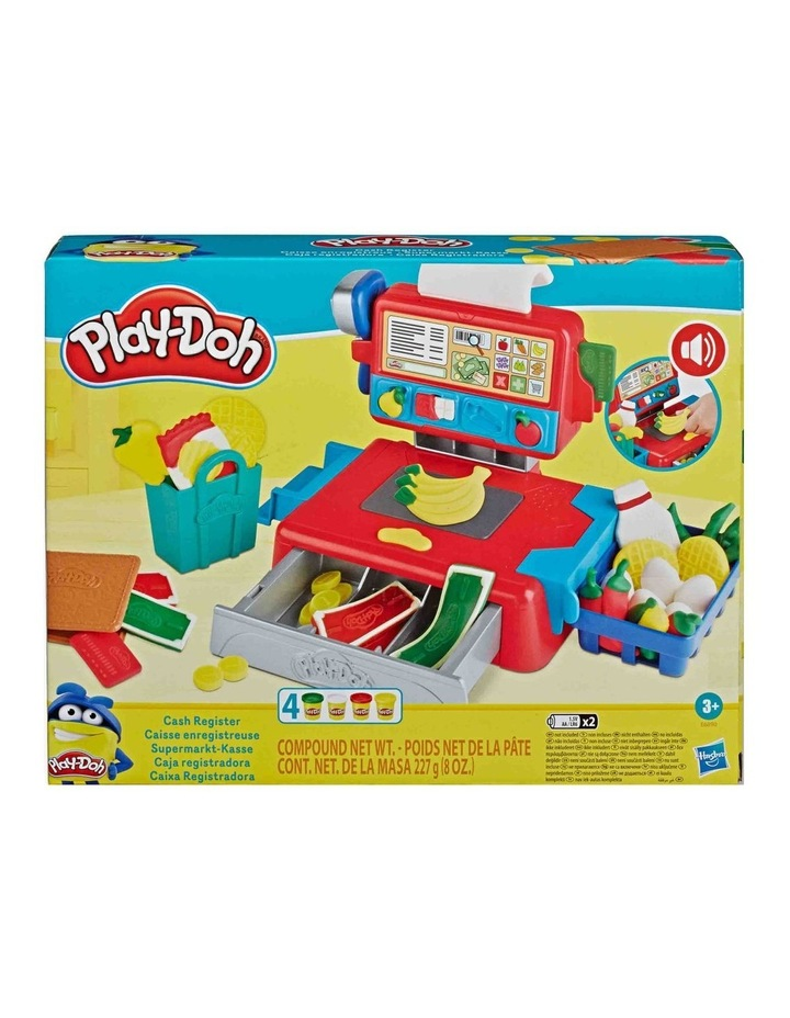 Cash Register Toy - Play Food Accessories & 4 Non-Toxic Dough Colours image 2