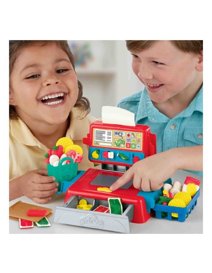 Cash Register Toy - Play Food Accessories & 4 Non-Toxic Dough Colours image 5